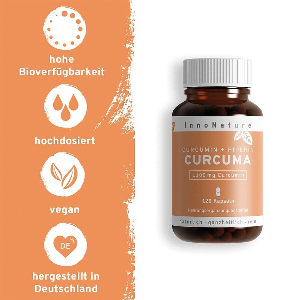 Innonature Curcuma Kapseln, 120 Tabl., 70.8 g