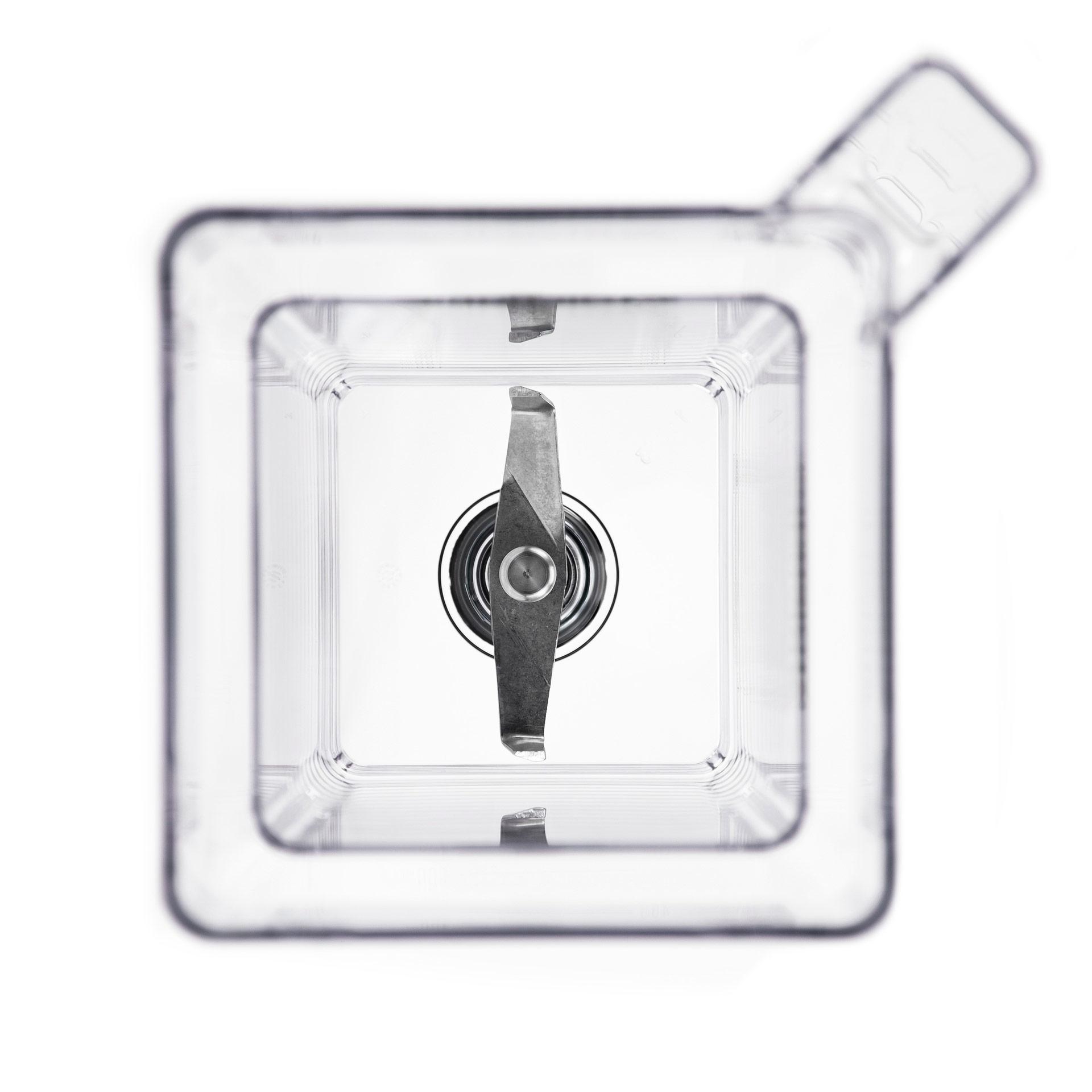 Blendtec FourSide 2-L-Mixbehaelter Blick in den Behälter