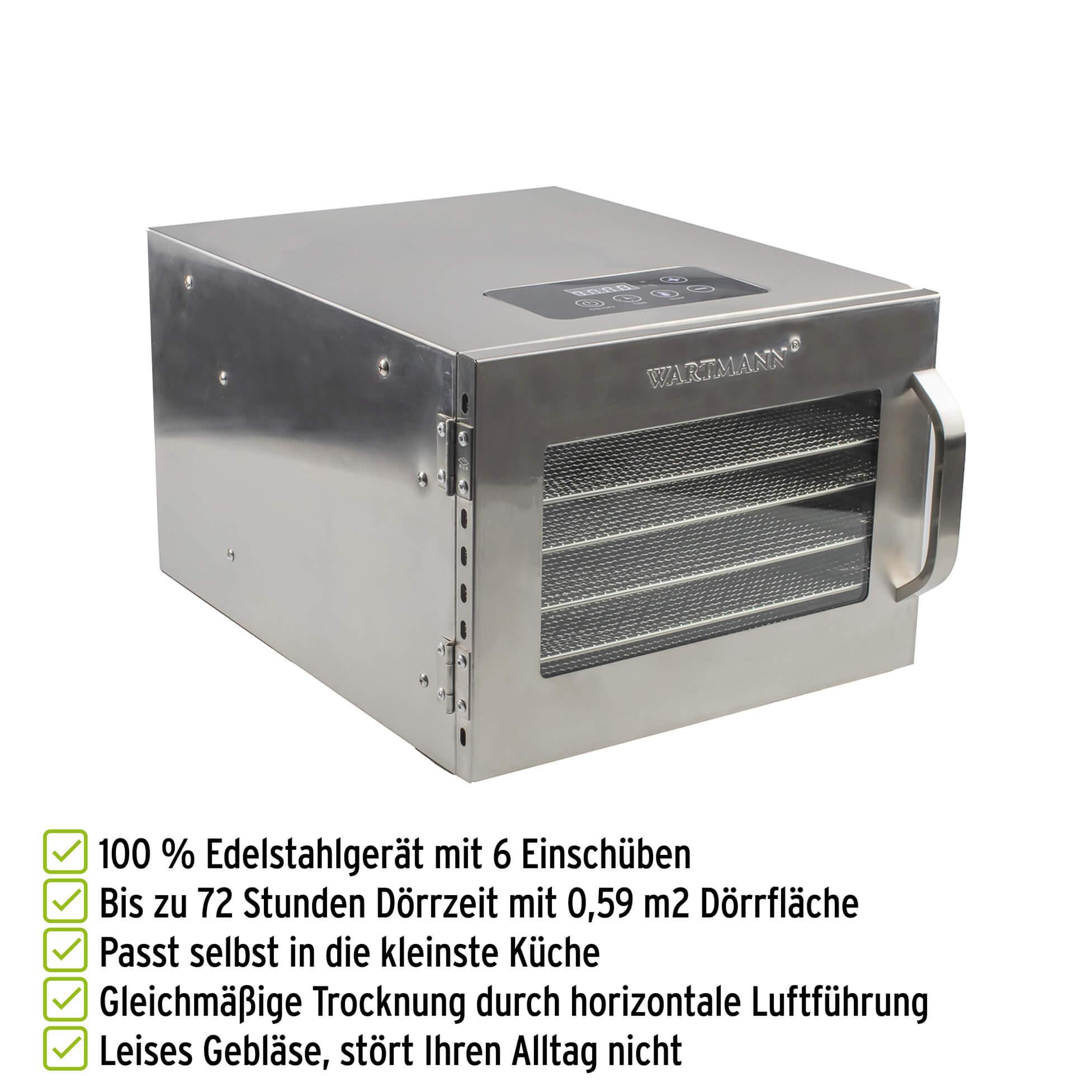 Wartmann Edelstahl-Doerrautomat WM 2006  DH mit Vorteilen