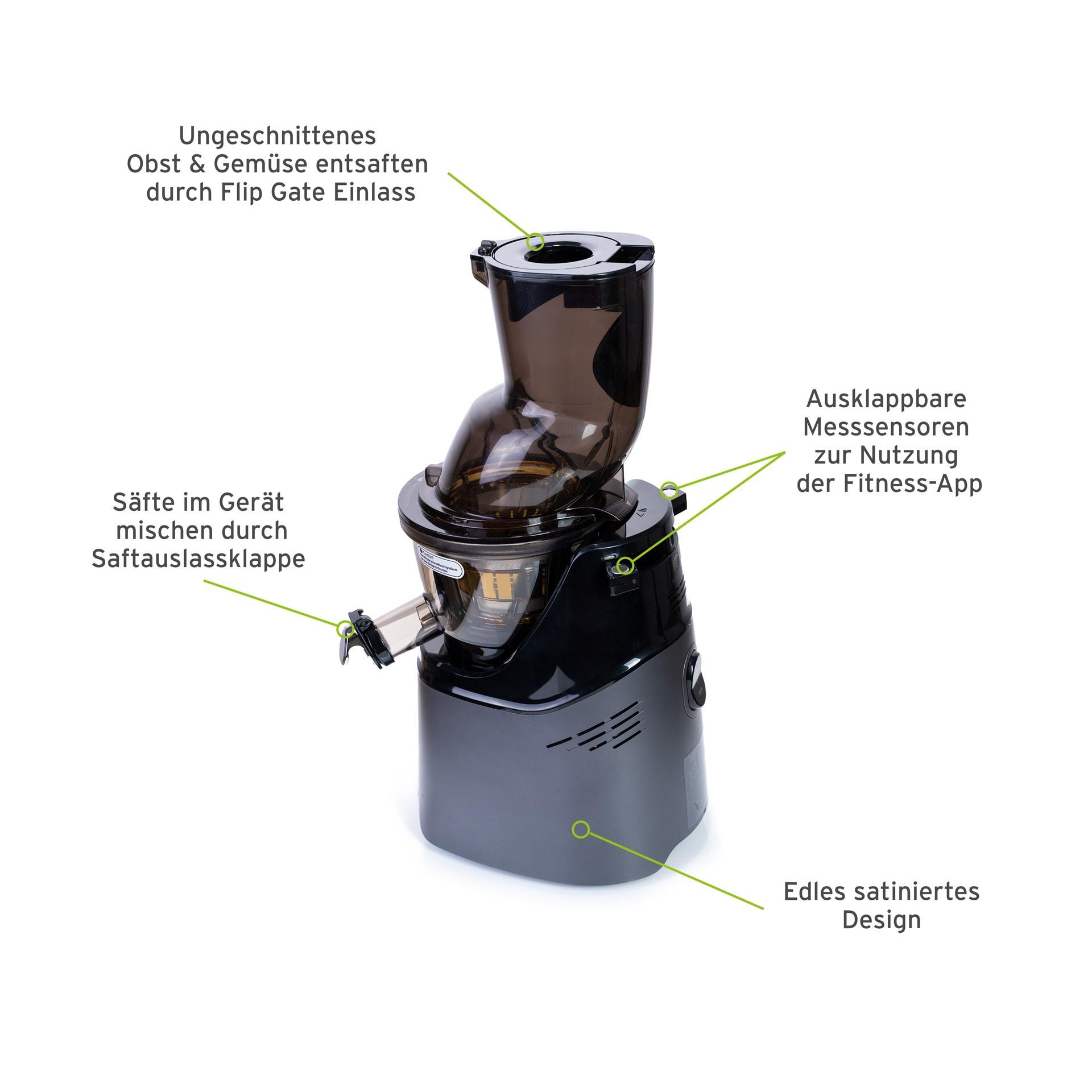 Kuvings IoT HealthFriend Juicer gun metal