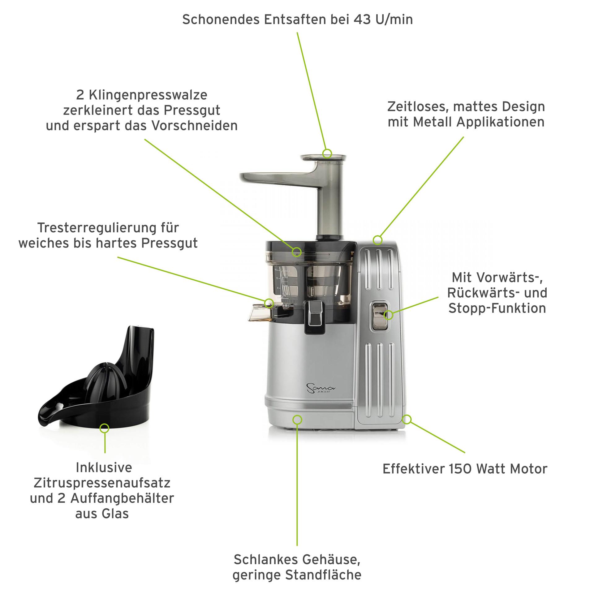 Sana Juicer EUJ-828 Silber