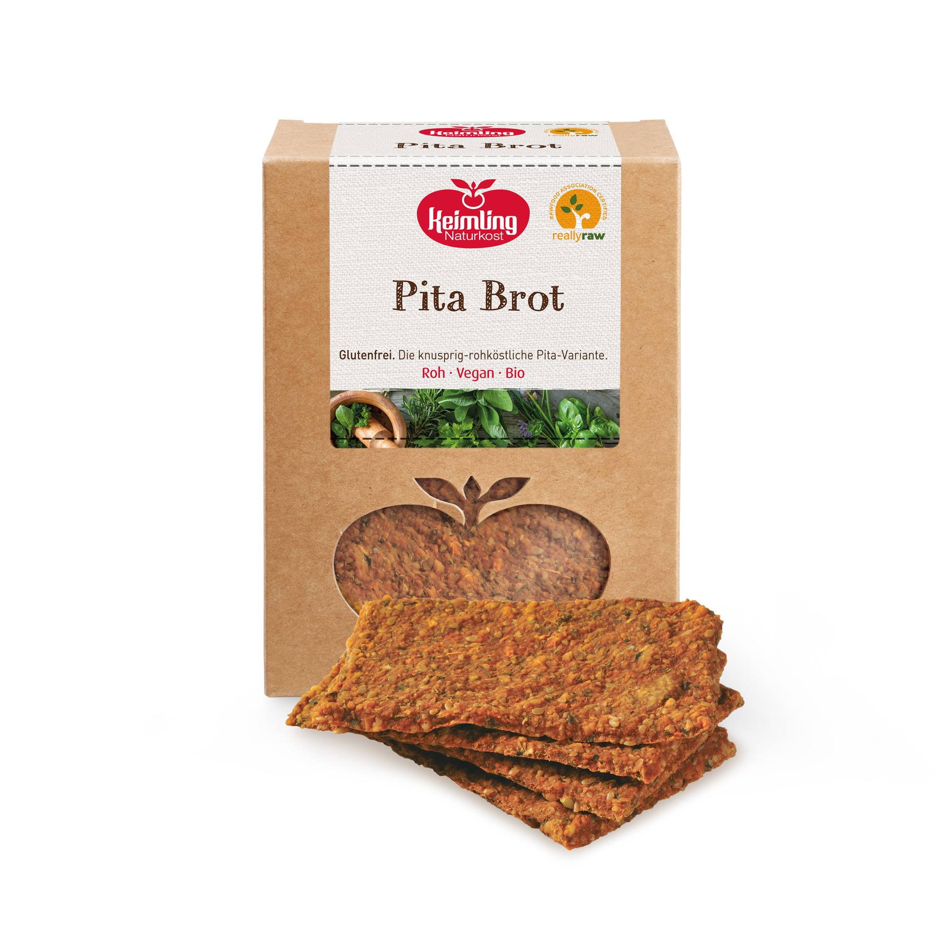 Rohköstliches Pita Brot, bio 180 g