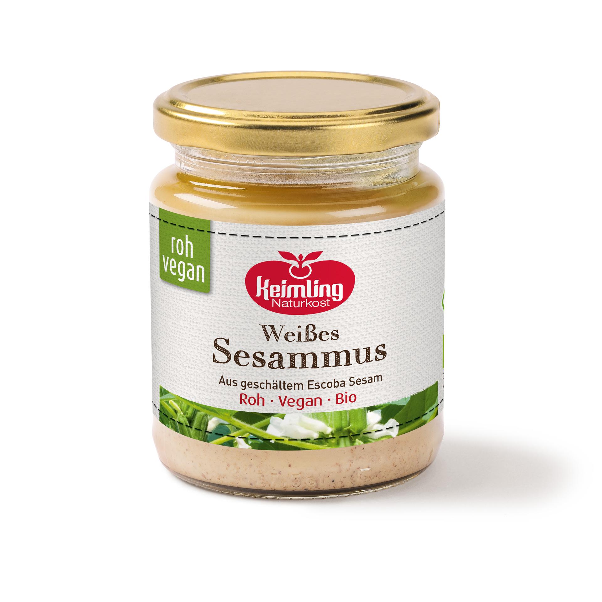 Weißes Sesammus Tahin in Rohkost-Qualität