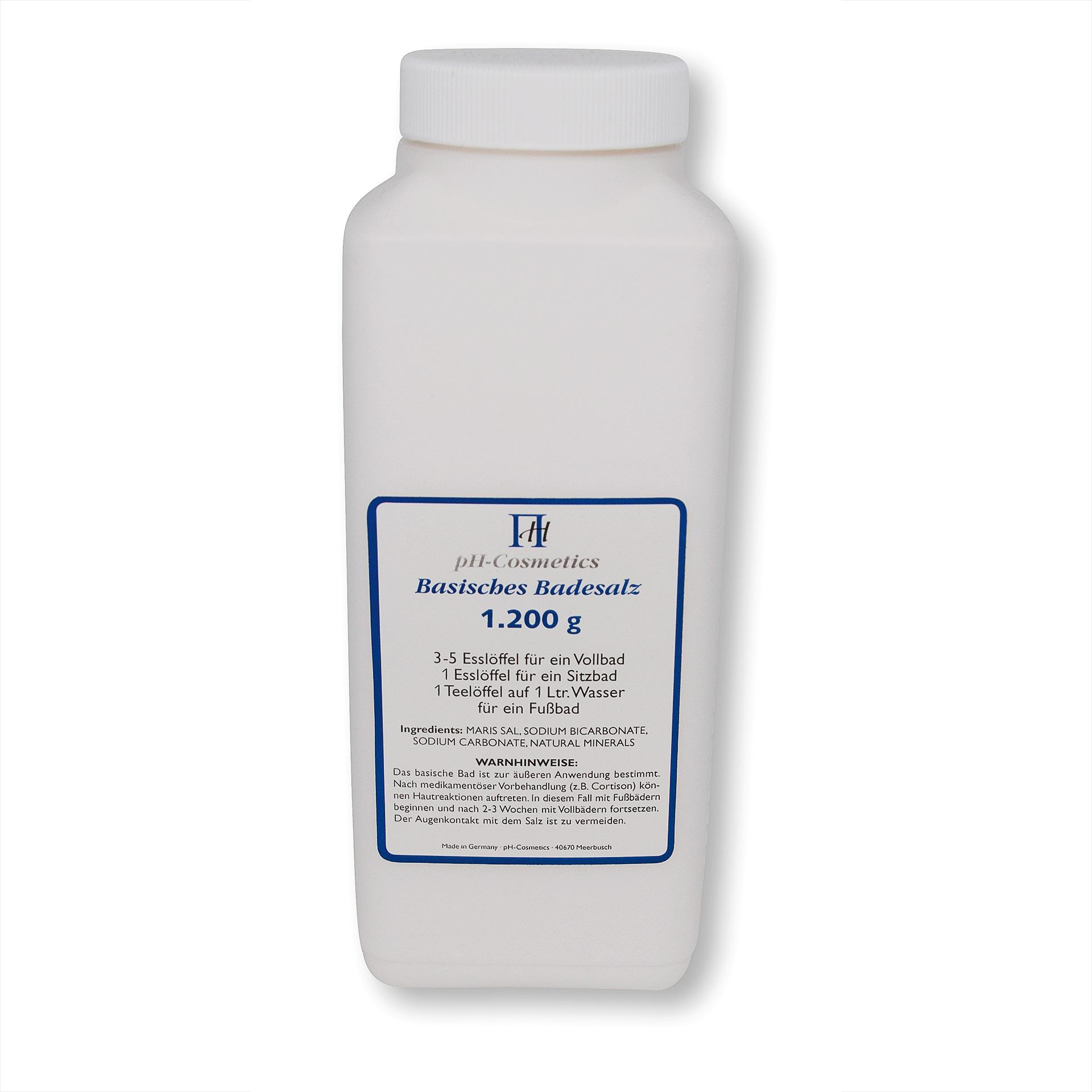 Basisches Badesalz von pH-Cosmetics: 1,2 kg für Basische Voll- oder Teilbäder
