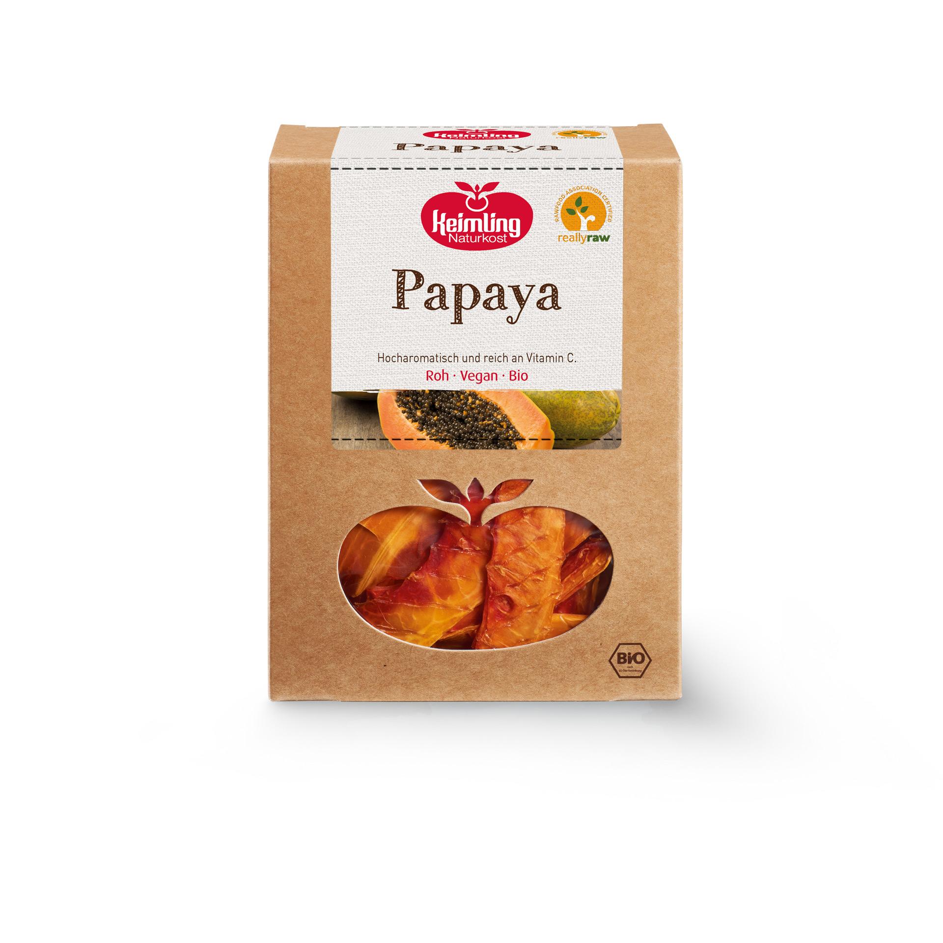 Rohkost Papaya von Keimling Naturkost really raw zertifiziert