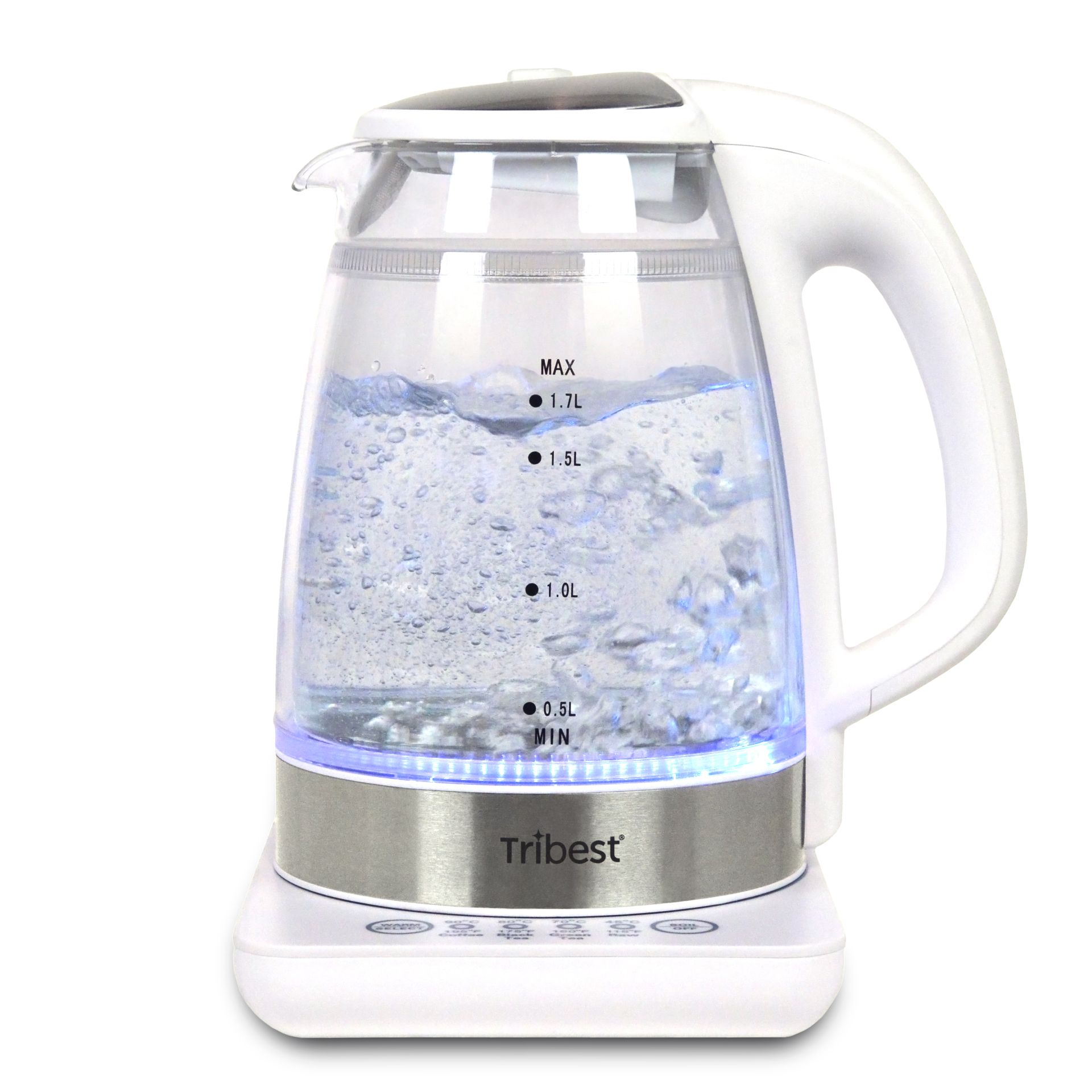 Tribest Wasserkocher GKD-450 in Betrieb