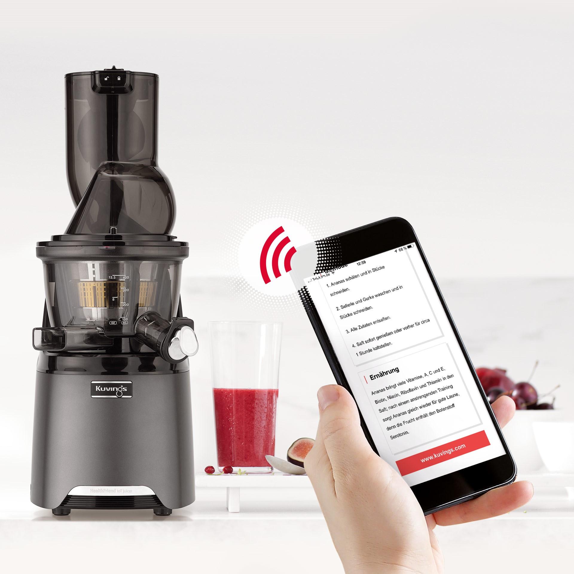Kuvings IoT HealthFriend Juicer rot