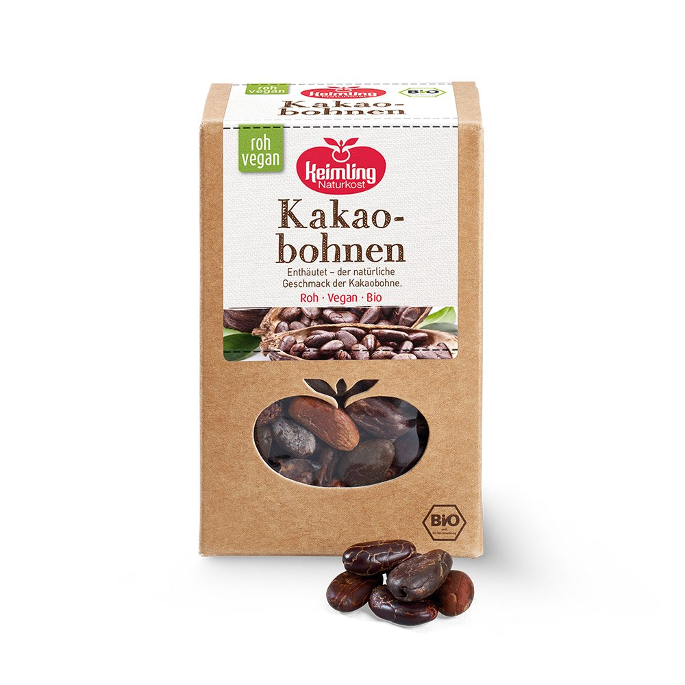 Kakaobohnen ohne Haut