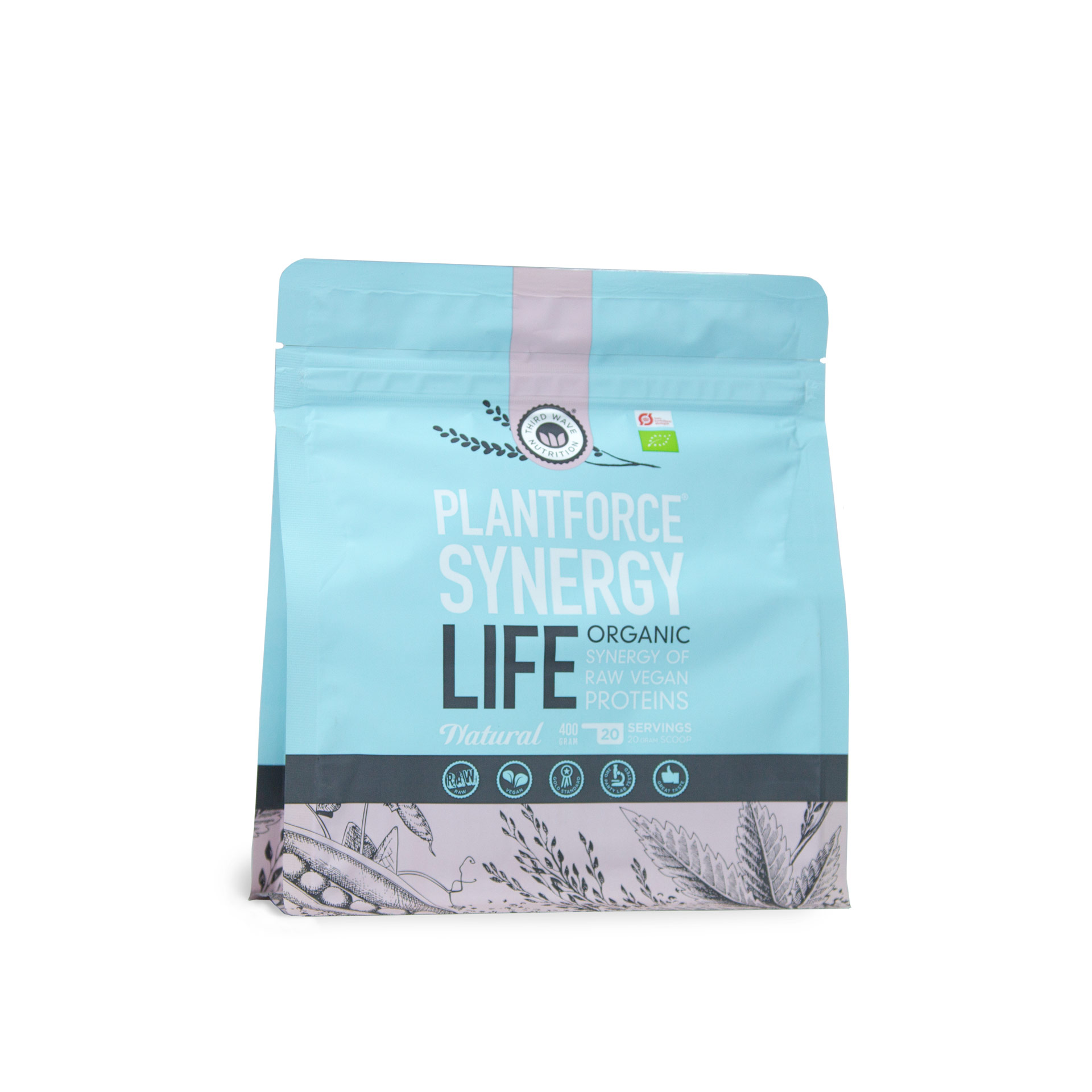 Veganes Proteinpulver von Planforce Synergy in Bio-Qualität