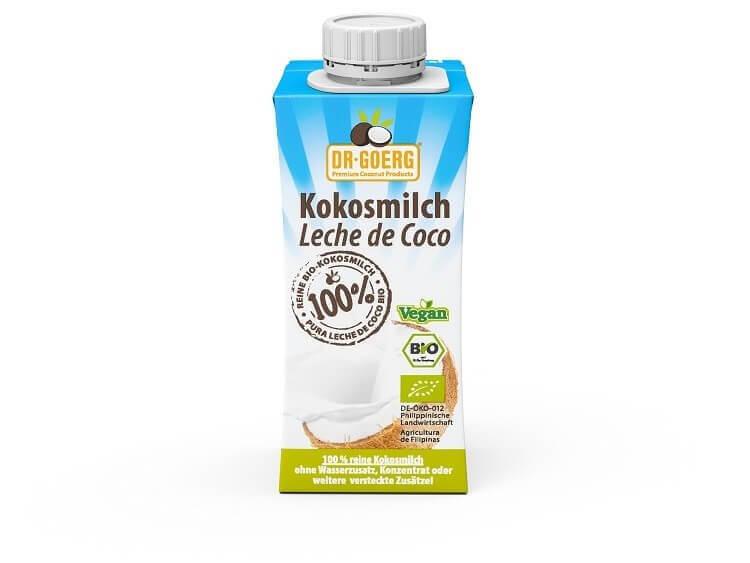 Dr. Goerg Bio Kokosmilch im Tetrapak 200 ml