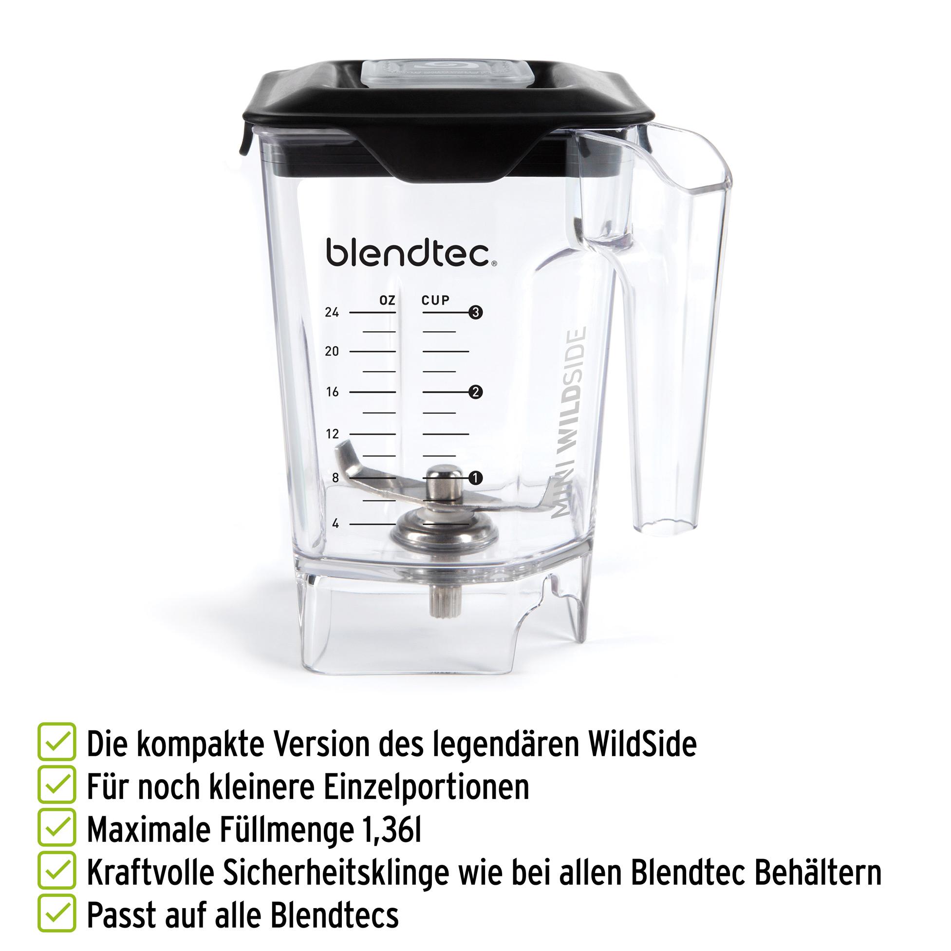 Blendtec MiniWildSide Mixbehälter für kleinere Einzelportionen