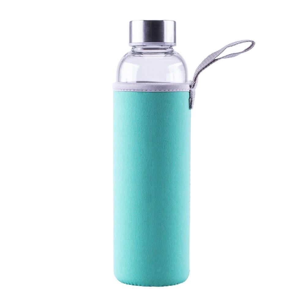Glastrinkflasche Türkis