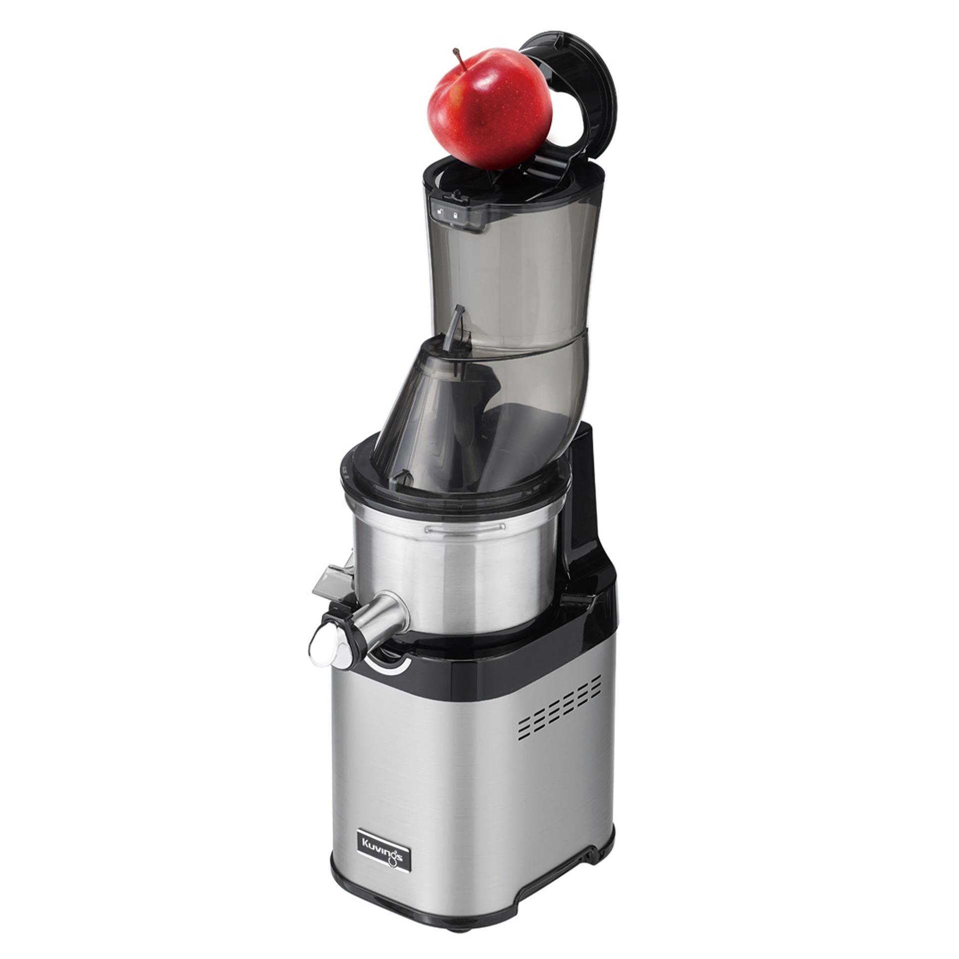Kuvings CS700 Entsafter: Der breite Einfülltrichter ist mit ganzen Äpfeln befüllbar