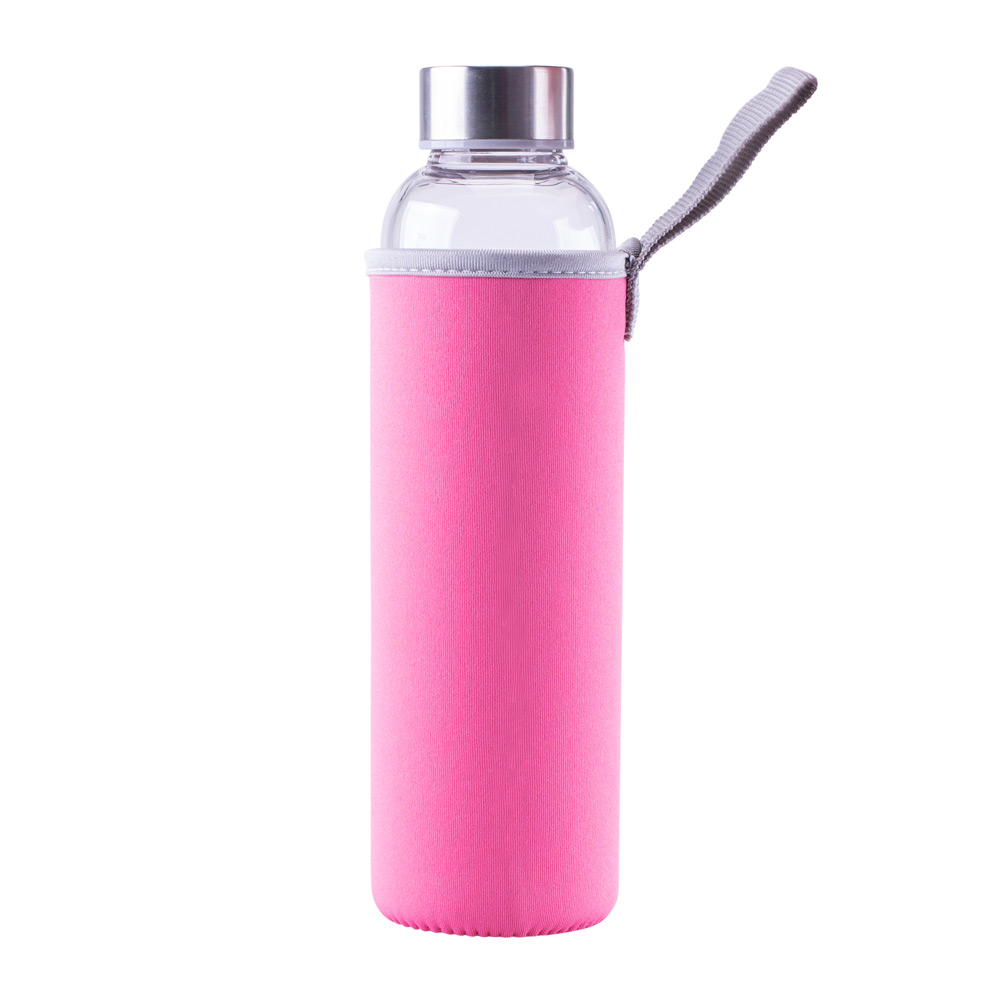 Steuber Glastrinkflasche in Pink
