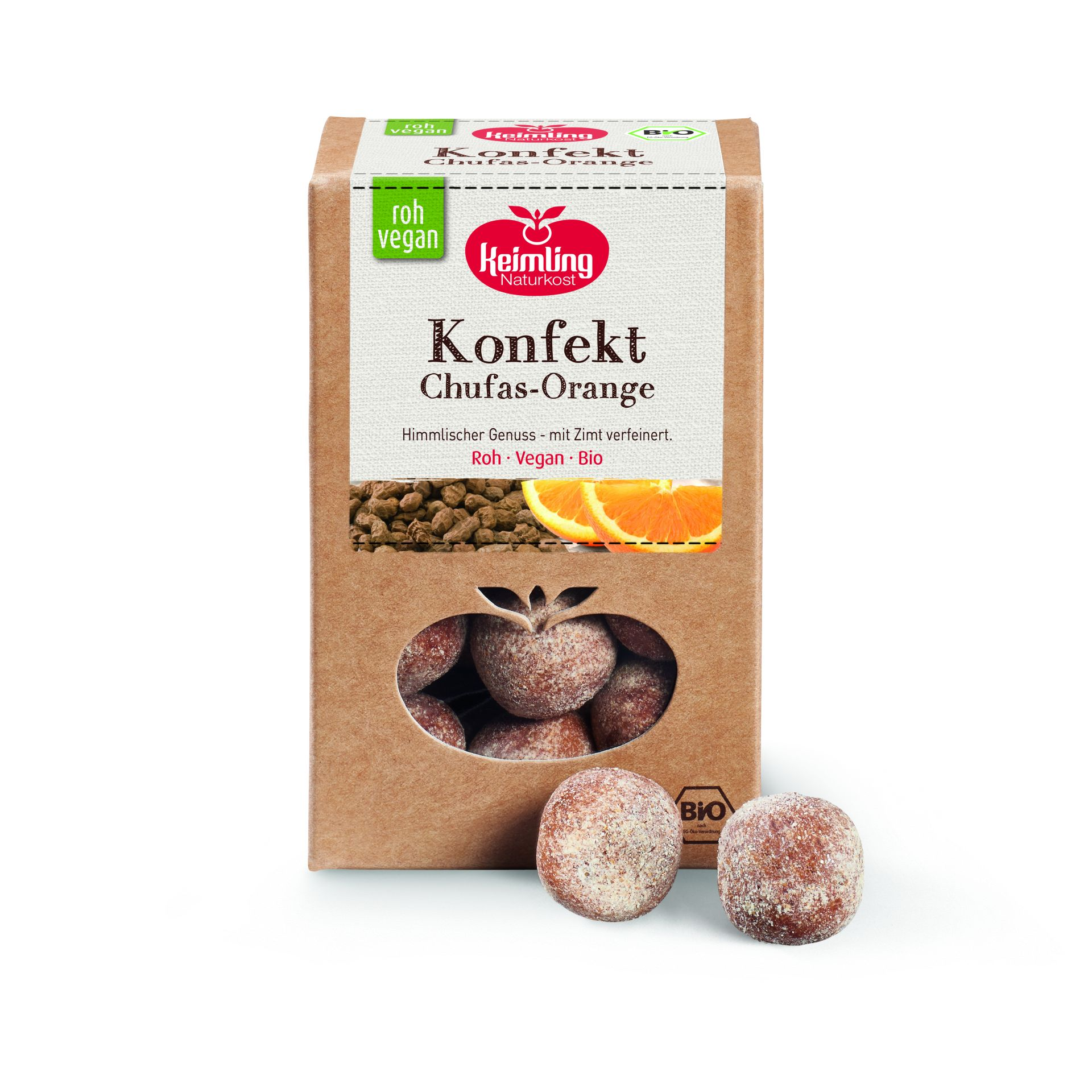 Rohkost Konfekt Chufa Orange 200g
