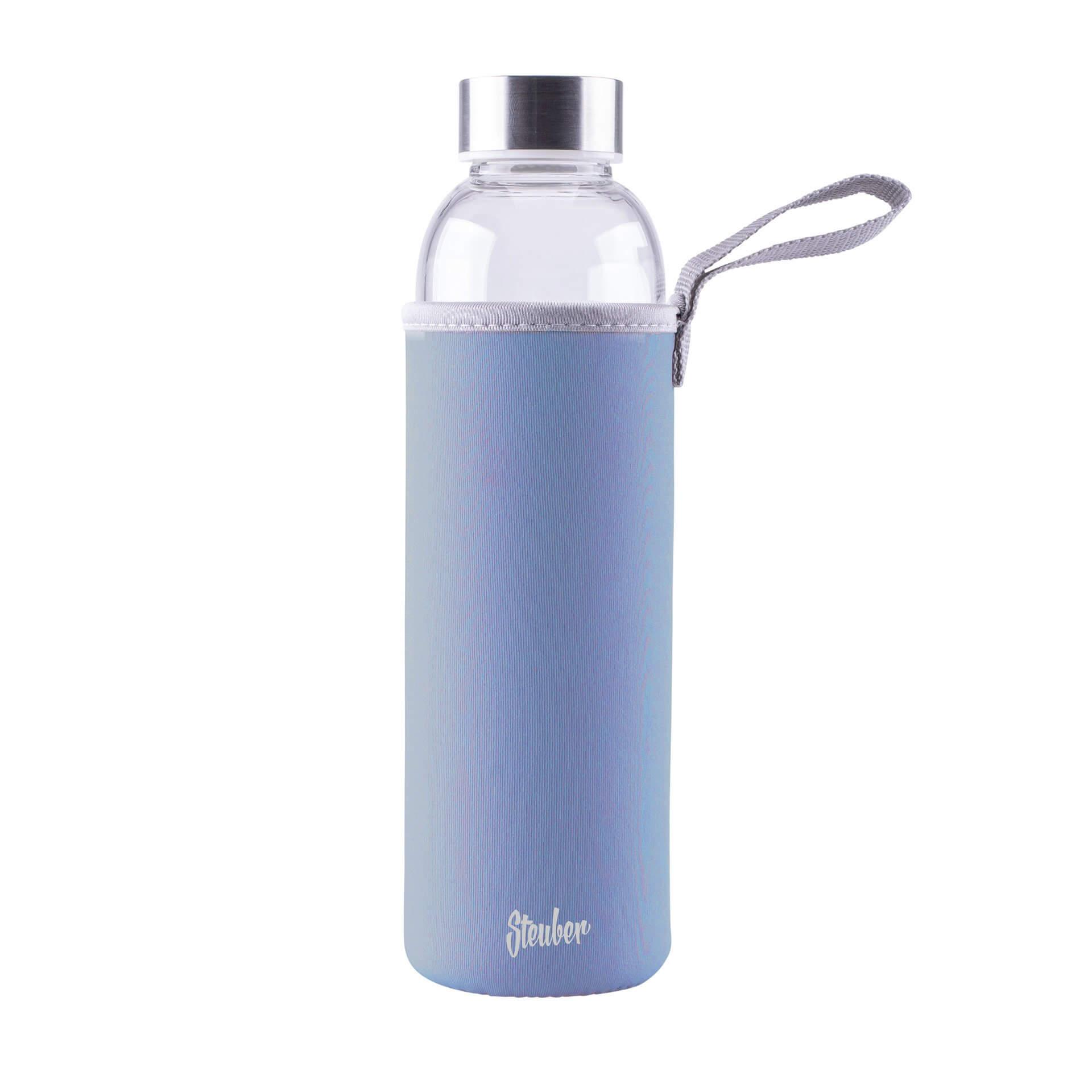 Glastrinkflasche Blau