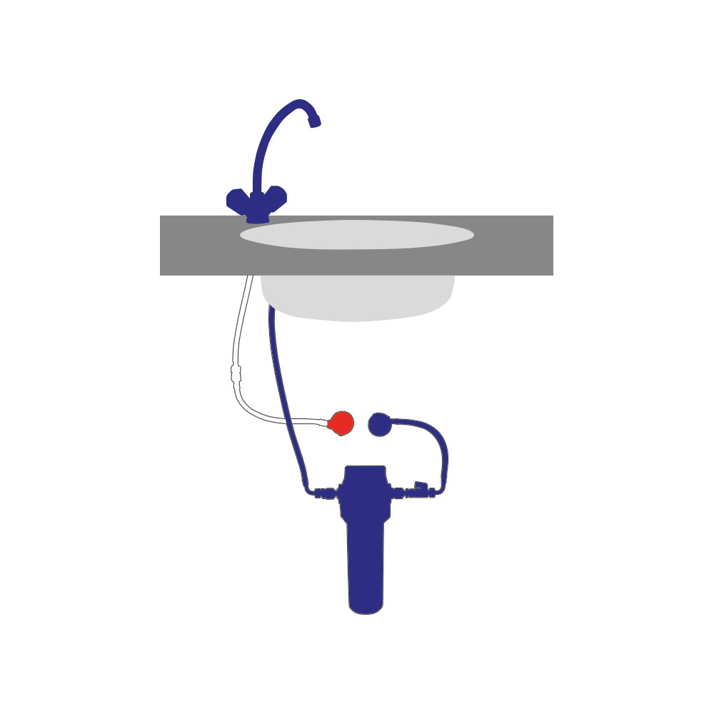 Carbonit Wasserfilter VARIO Untertischgerät mit Vitalisierer