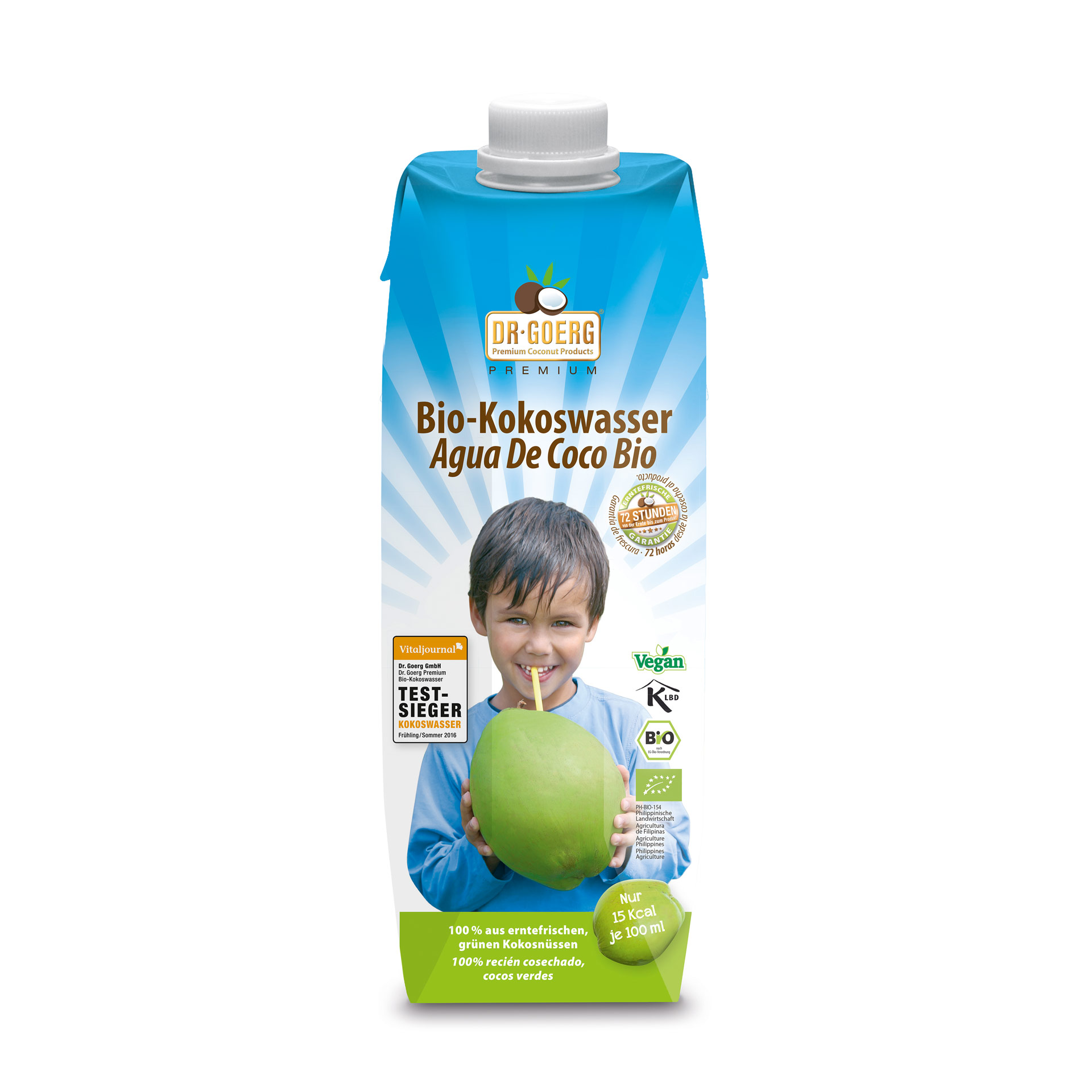 Kokoswasser, bio, 12er Pack, 1000 ml